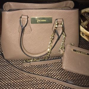 Brown Steve Madden bag with change purse